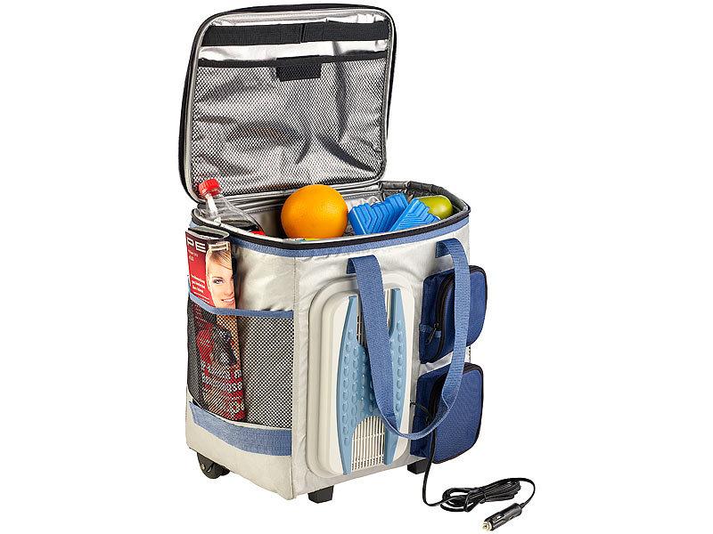 xcase k hltasche zum ziehen thermoelektrische k hltasche mit trolley funktion 40 liter 12. Black Bedroom Furniture Sets. Home Design Ideas