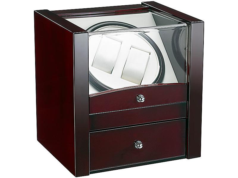 st leonhard uhrenschwenker design uhrenbeweger f r 2 automatik uhren edle rotholz optik. Black Bedroom Furniture Sets. Home Design Ideas