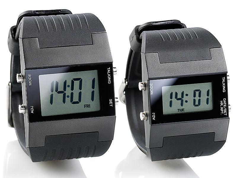 Moderne armbanduhr herren  St. Leonhard Sprechende Herren-Armbanduhr mit Weckfunktion