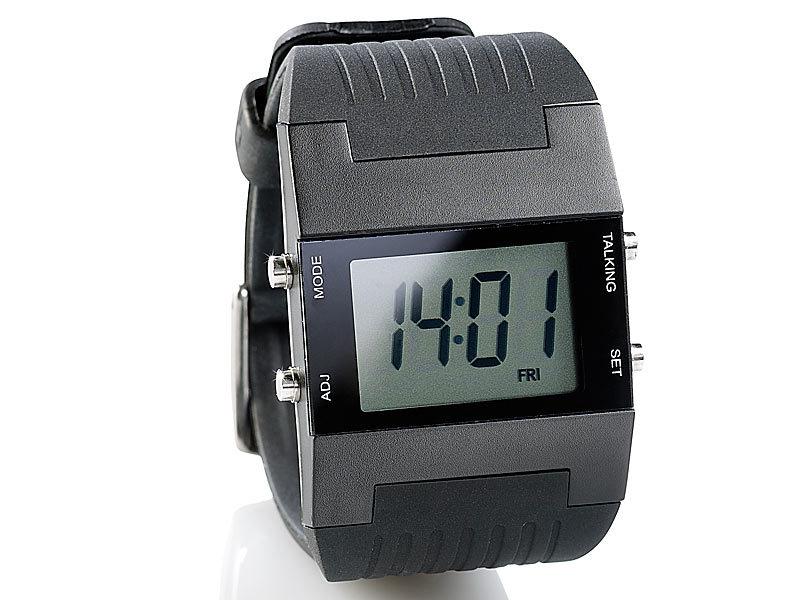 st leonhard sprechende herren armbanduhr mit weckfunktion. Black Bedroom Furniture Sets. Home Design Ideas