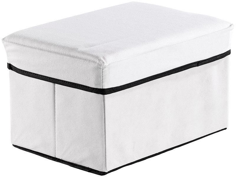 Infactory sitzhocker in aufbewahrungsbox mit integriertem