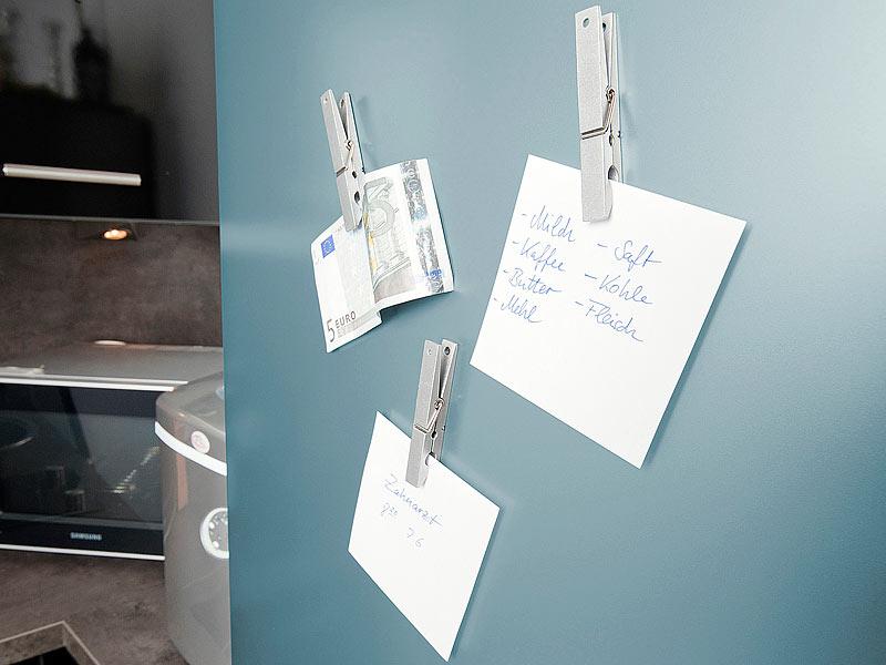 Kühlschrank Magnete : Infactory vollmetall kühlschrankmagnete im wäscheklammer design
