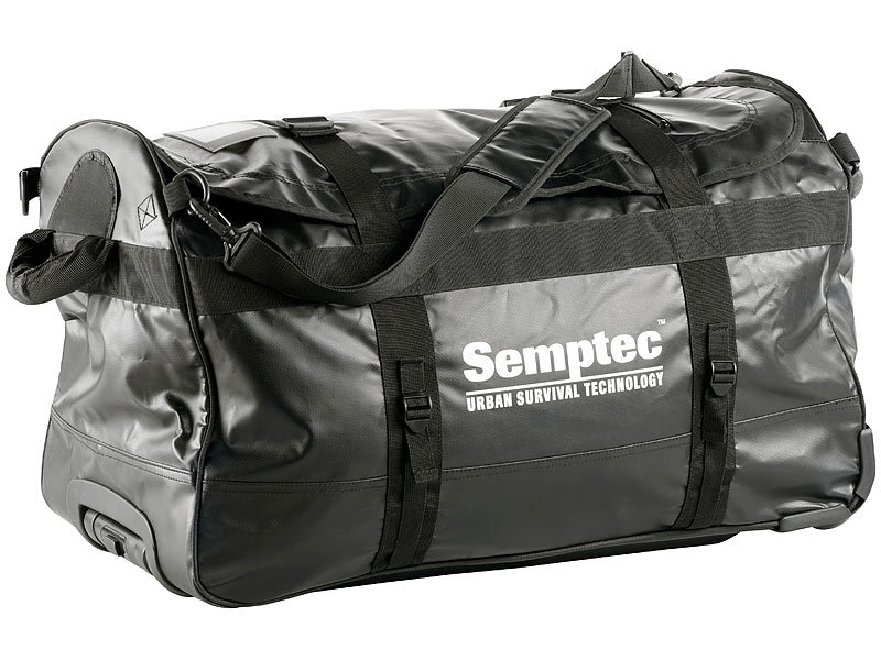 semptec rolltasche 2in1 trolley reisetasche aus rei fester lkw plane 100 l reisetasche lkw. Black Bedroom Furniture Sets. Home Design Ideas