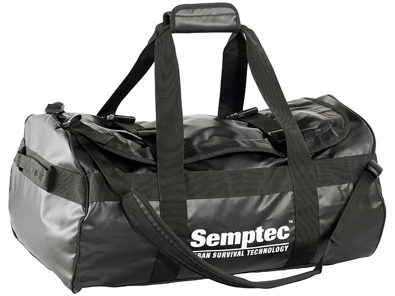 semptec tasche 2in1 rucksack reisetasche aus rei fester lkw plane 65 l tasche lkw plane. Black Bedroom Furniture Sets. Home Design Ideas