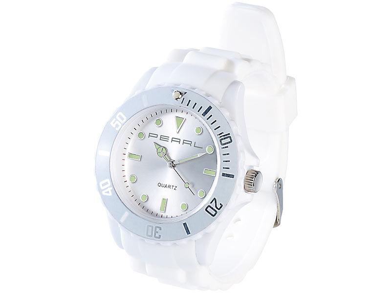 Silikon Armbanduhr weiß