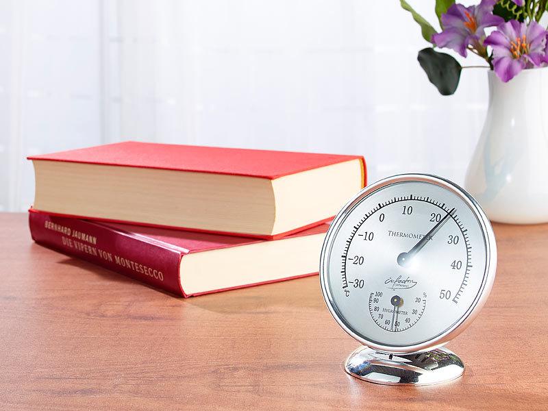 infactory analoges thermometer mit hygrometer 10 cm. Black Bedroom Furniture Sets. Home Design Ideas