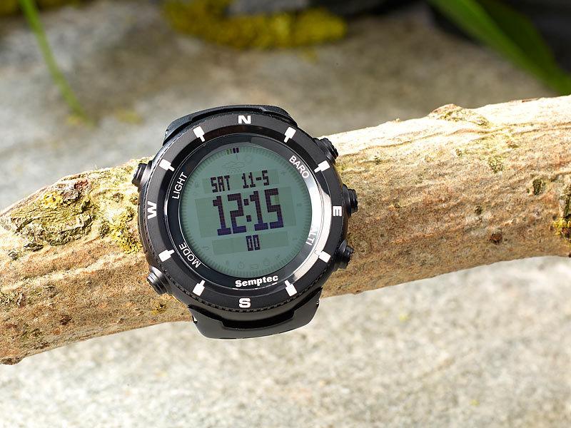semptec urban survival technology outdoor armbanduhr f r trekking black edition. Black Bedroom Furniture Sets. Home Design Ideas
