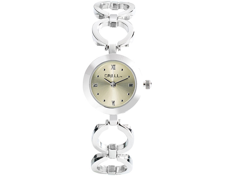 Armbanduhr damen rund