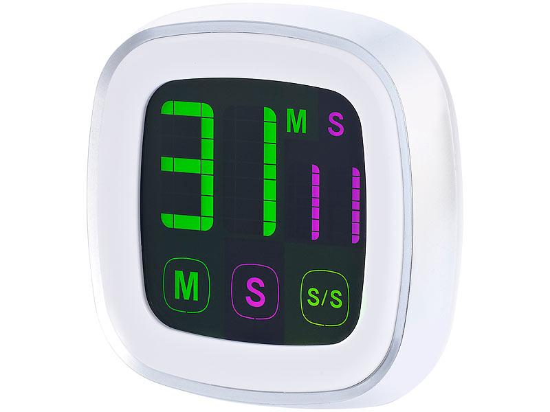 infactory eieruhr magnetischer k chentimer mit farbigem touchscreen digitale sanduhr. Black Bedroom Furniture Sets. Home Design Ideas