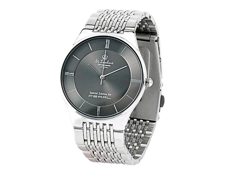 Armbanduhr zeichnung  St. Leonhard Herren-Armbanduhr aus Edelstahl ...