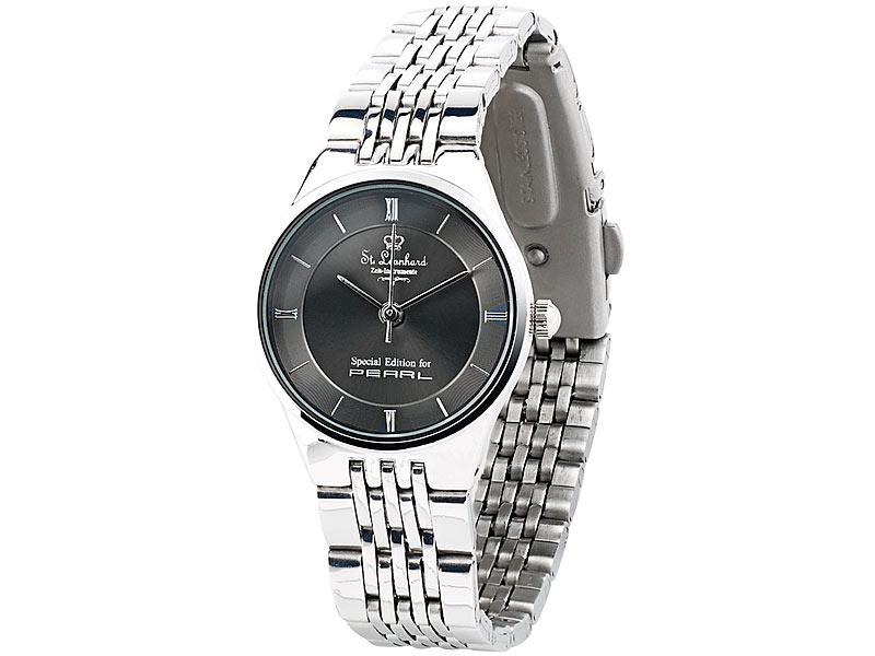 Armbanduhr am arm damen  St. Leonhard Damen-Armbanduhr aus Edelstahl