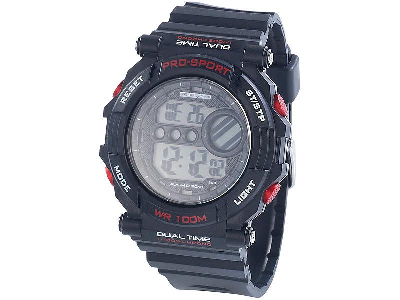 Durch die digitale Anzeige ist die Uhrzeit einfach ablesbar. Da es keine Zeiger gibt, können diese auch nicht verwechselt werden. Bei uhrcenter finden Sie viele Varianten von Digitaluhren/5(K).
