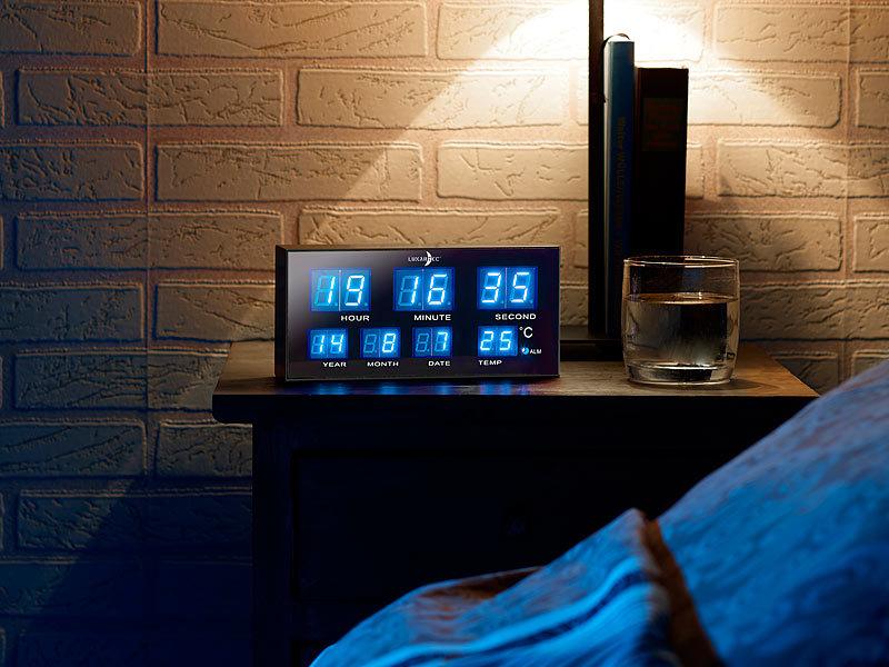 lunartec led wecker design kompakter multi led wecker mit blauen leds led wecker digital design. Black Bedroom Furniture Sets. Home Design Ideas