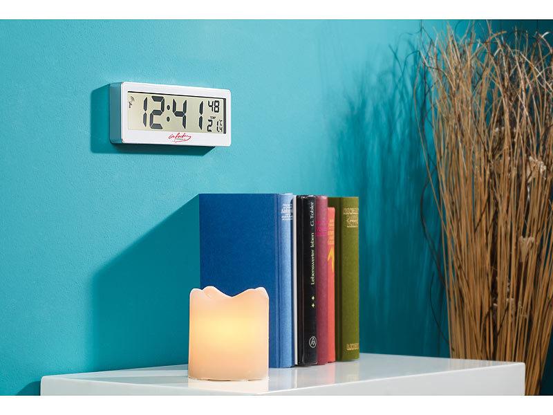 infactory Badezimmer-Uhr: Kompakte Funkuhr mit riesigem XXL ...