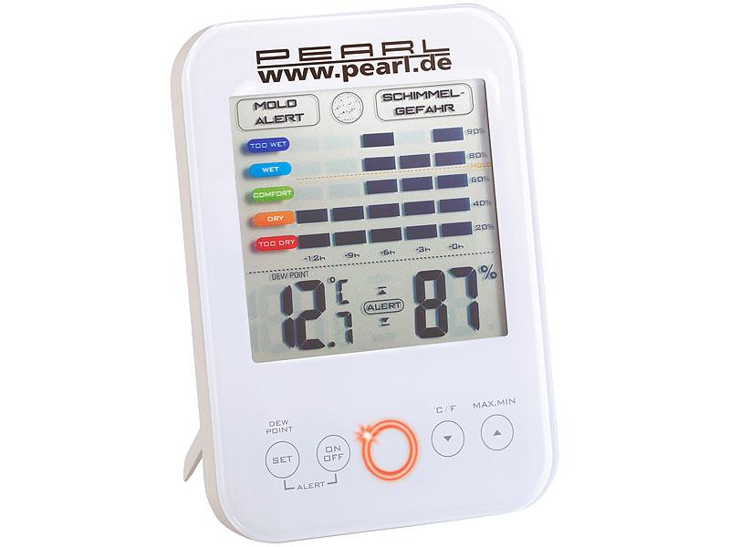 Aldi Kühlschrank Thermometer : Pearl schimmelwächter digital hygrometer thermometer mit schimmel
