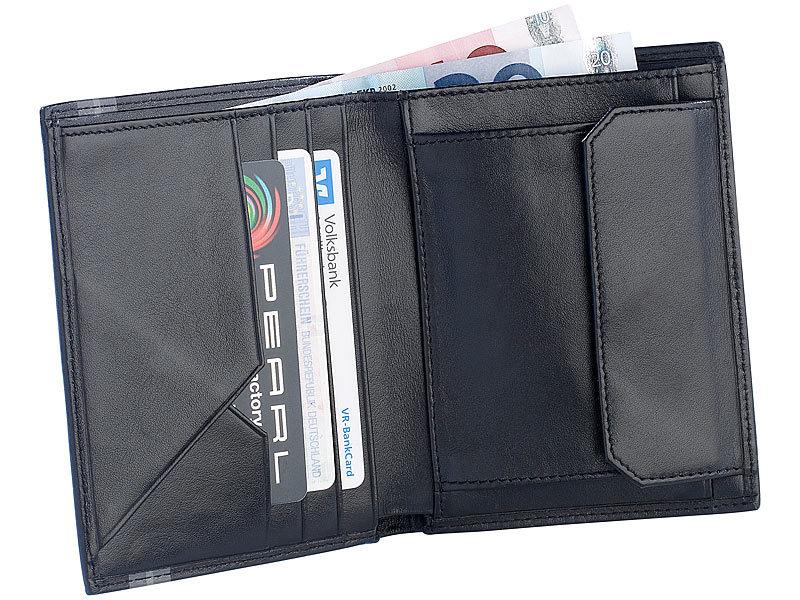 94e7aedf7c3c27 Echtleder-Geldbörse: Carlo Milano Moderner Geldbeutel mit Echtleder  überzogen, schwarz Bild 1