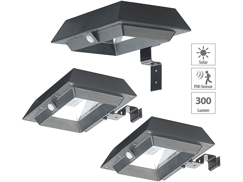 2er Set RGB LED Wandleuchten Außenlampen Bewegungsmelder Farbwechsel schaltbar