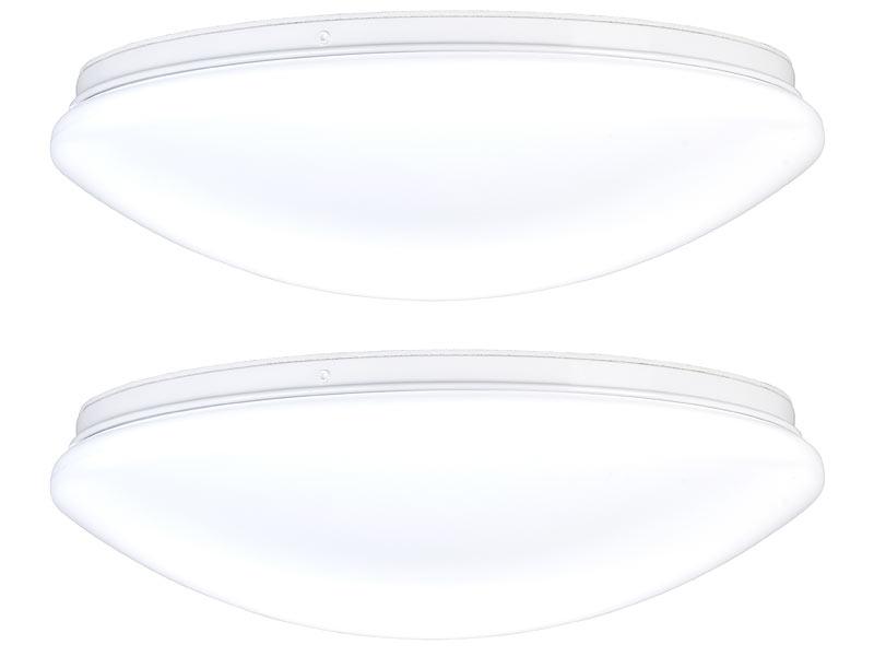 Luminea 2er Pack LED Wand & Deckenleuchte mit 1.440 lm