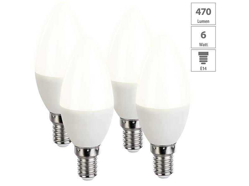 E14 LED Leuchtmittel 6 Watt Energiespar Lampe Kugel Glühbirne 470 Lumen dimmbar