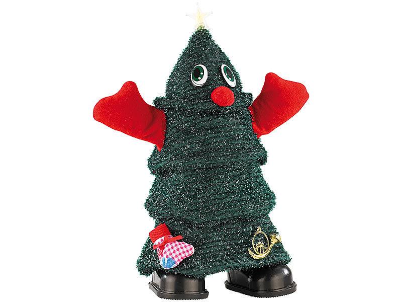 Infactory singender laufender weihnachtsbaum rocking for Weihnachtsbaum baumarkt