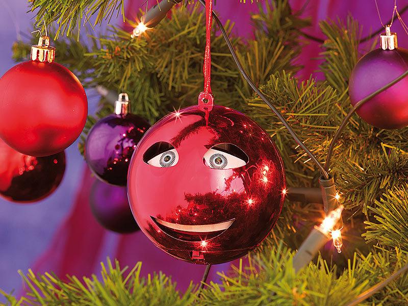 infactory Singende Christbaumkugel: Singende Weihnachtsbaumkugel in ...
