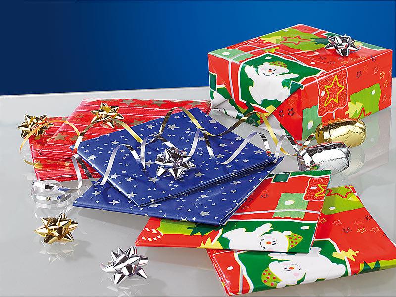 infactory Geschenk-Papier: 14-teiliges Geschenkverpackungs-Set ...