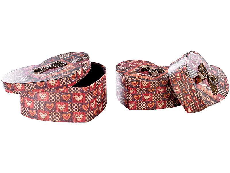 infactory Geschenkverpackungen: Herzförmige Geschenk- & Deko-Boxen ...