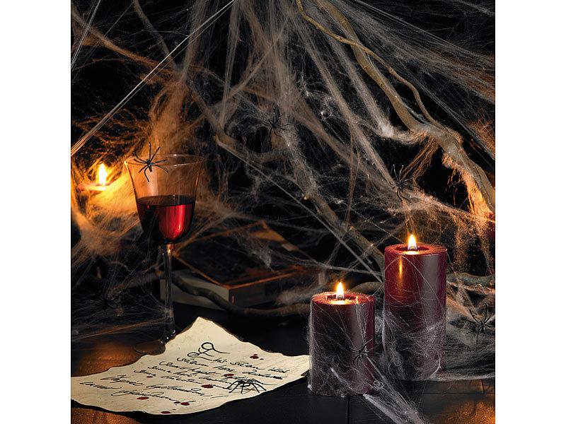 infactory spinnweben halloween deko spinnennetz mit 10 spinnen halloween dekorationen. Black Bedroom Furniture Sets. Home Design Ideas