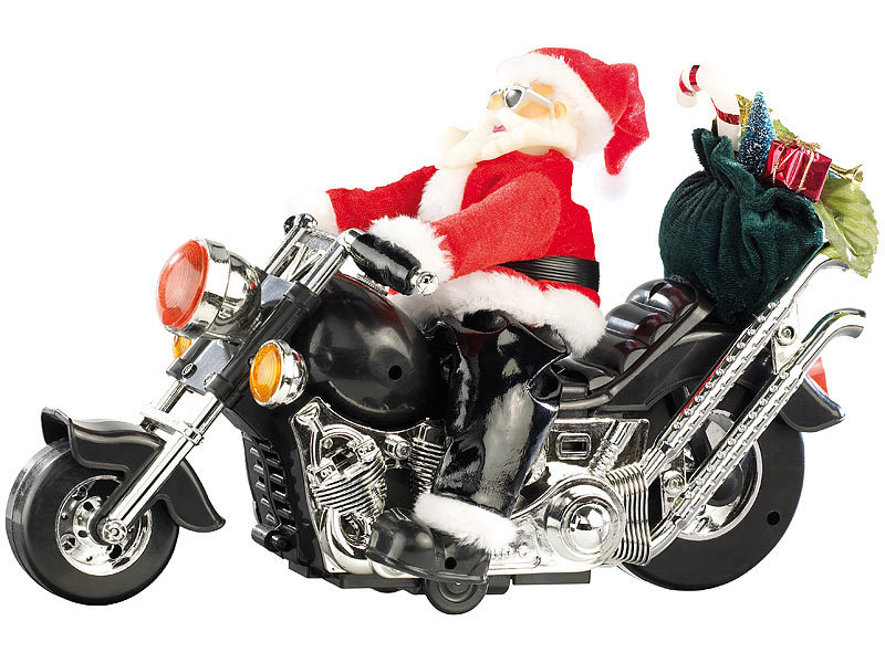 infactory weihnachtsmann santa bike auf motorrad. Black Bedroom Furniture Sets. Home Design Ideas