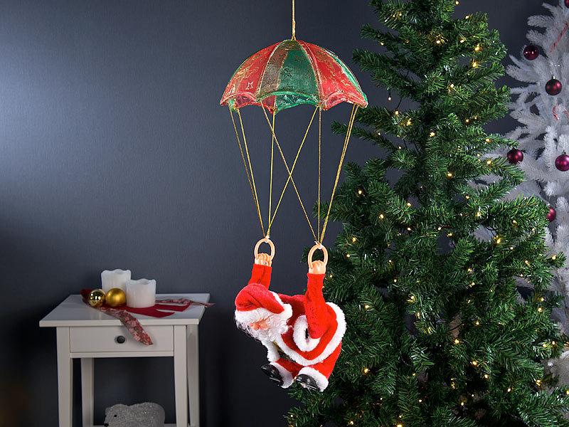 infactory Deko Figuren: Singender Weihnachtsmann \