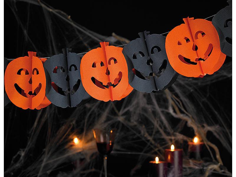 Infactory halloween girlande spooky pumpkin 5 st ck 3 m - Halloween girlande ...