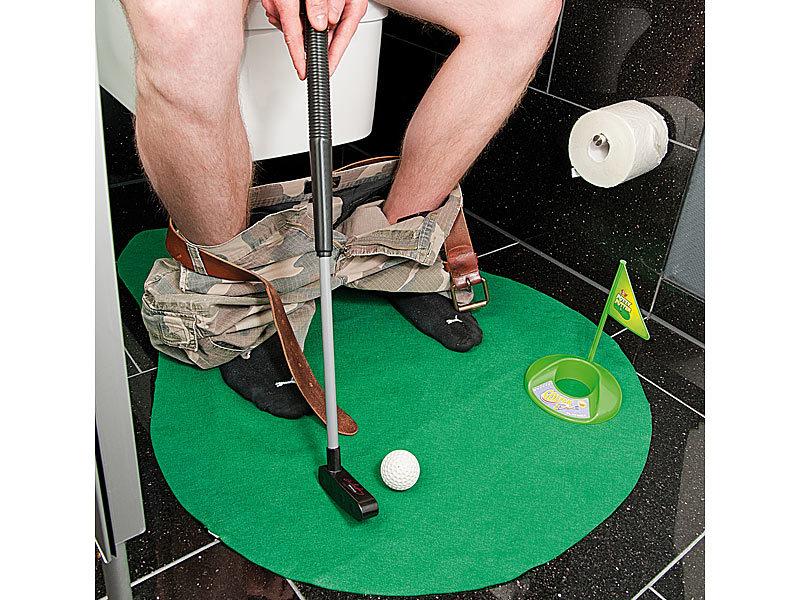 infactory lustiges golfspiel set f r bad wc. Black Bedroom Furniture Sets. Home Design Ideas