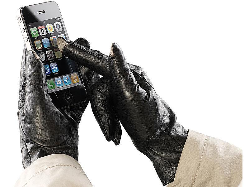 pearl urban lederhandschuh touchscreen handschuhe. Black Bedroom Furniture Sets. Home Design Ideas