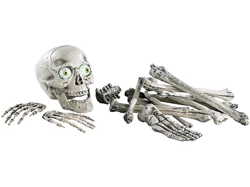 infactory Gruselskelett: 18 teiliges Grusel Skelett