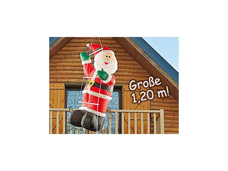infactory weihnachtsmann balkon selbstaufblasender xxl. Black Bedroom Furniture Sets. Home Design Ideas