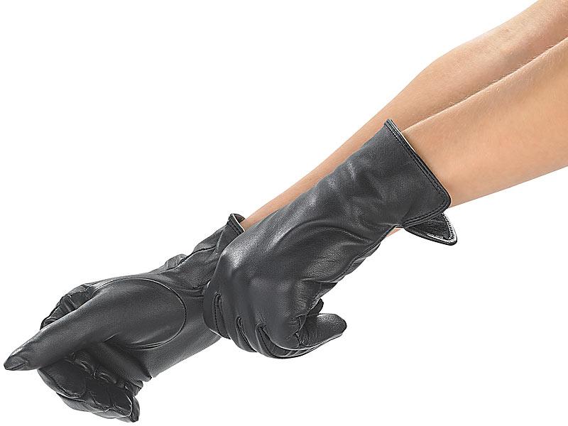 09a37ab7a0f9e1 PEARL urban Handschuhe für Winter: Damen-Handschuhe aus echtem ...