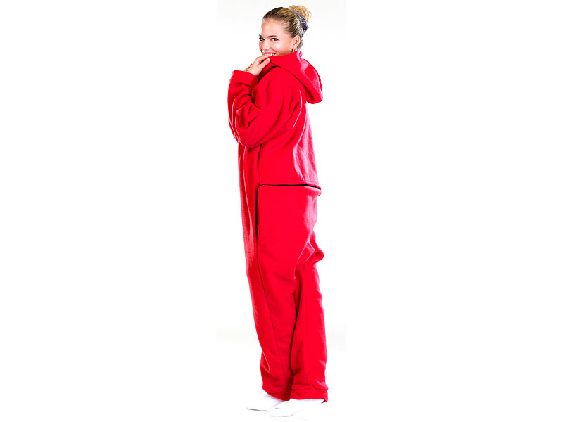 new product 66fa4 005c0 PEARL Kuschelanzug Damen: Jumpsuit aus flauschigem Fleece ...