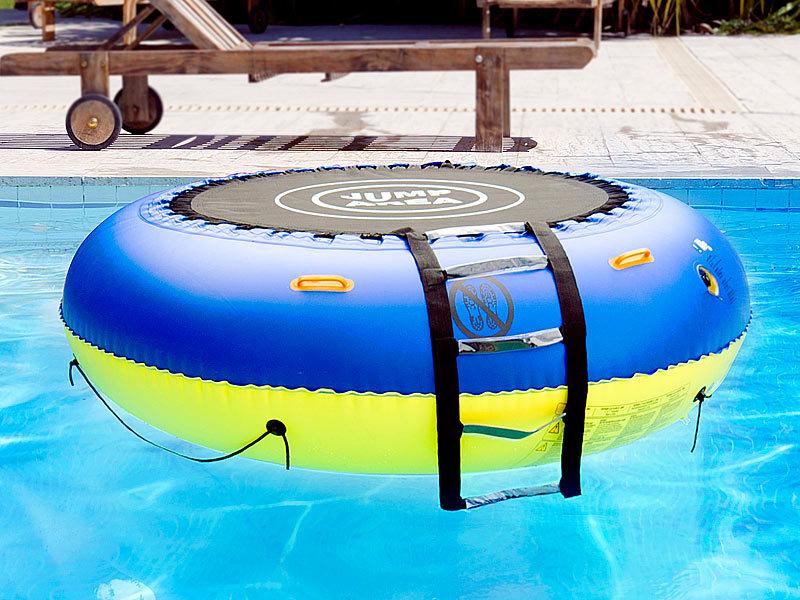 Infactory 4in1 trampolin f r wasser und garten for Badepool aufblasbar
