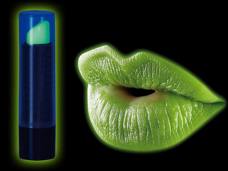 Infactory Fluoreszierender Schwarzlicht Lippenstift Infactory  Kostüm Accessoires ...
