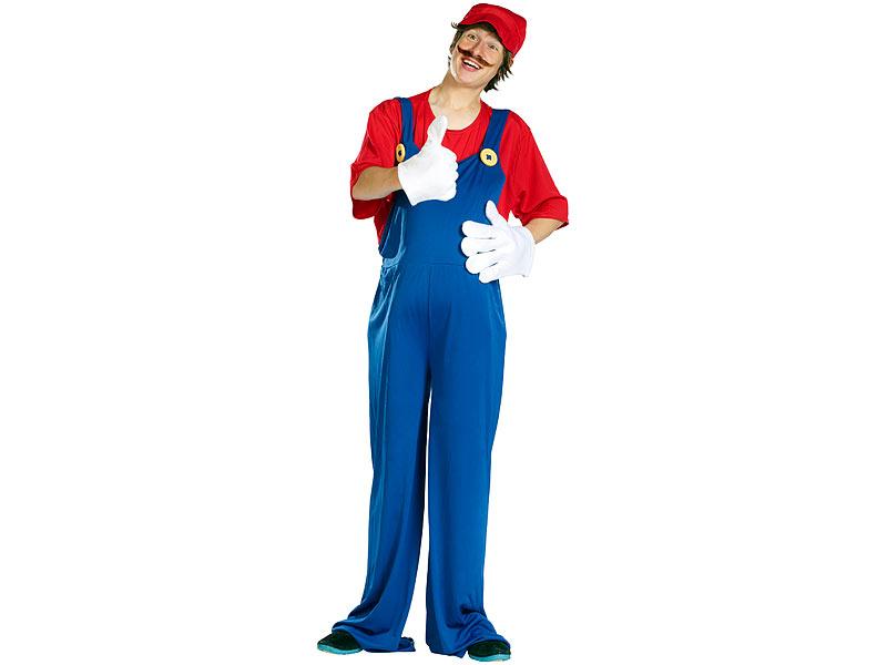 Infactory Kinder Faschings Kostüme Kostüm Italienischer Klempner
