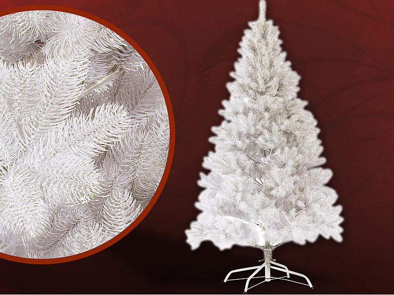infactory k nstlicher weihnachtsbaum 180 cm 1071 pe spitzen mit st nder wei. Black Bedroom Furniture Sets. Home Design Ideas
