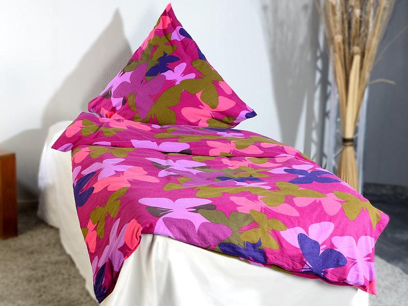wilson gabor fleece bettw sche schmetterlingstraum 135x200 80x80. Black Bedroom Furniture Sets. Home Design Ideas