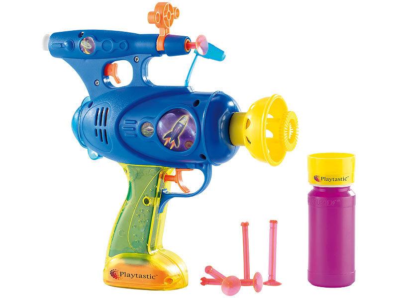 Playtastic Seifenblasenpistole: 3in1 Spielzeugpistole