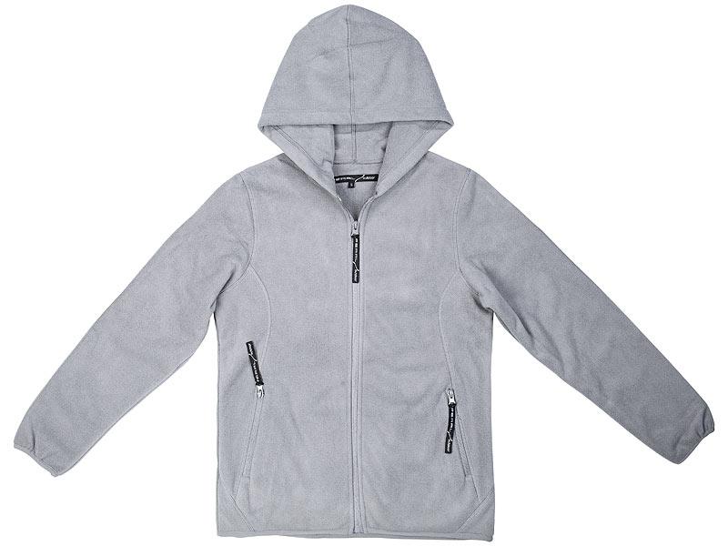 533b889898f639 PEARL outdoor Fleece-Jacke mit Kapuze für Damen, Größe S, grau PEARL  outdoor ...