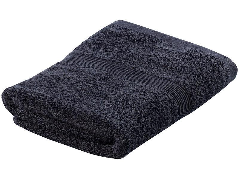 wilson gabor handtuch set 2x 50x100 cm 2x 140x70 cm schwarz. Black Bedroom Furniture Sets. Home Design Ideas