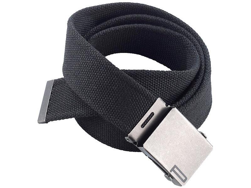 83c3008218c035 Gürtel: PEARL urban Stoffgürtel mit Metallschnalle, schwarz, 120 cm Bild 1