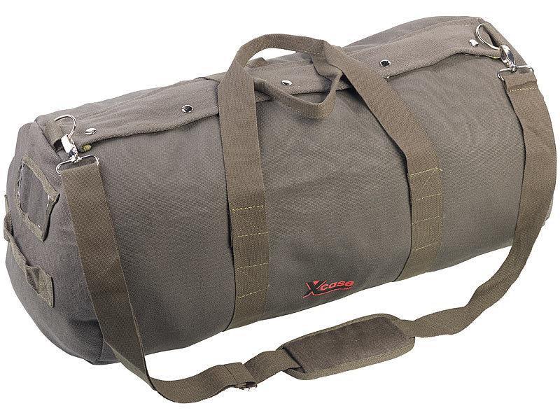 xcase sporttasche xl canvas reisetasche mit gepolstertem schultergurt 70 liter canvas taschen. Black Bedroom Furniture Sets. Home Design Ideas