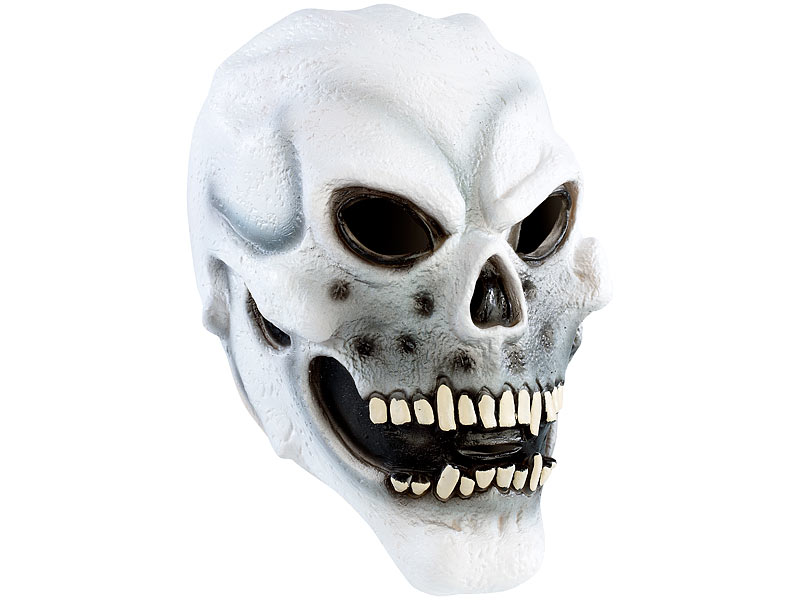 Infactory Fasching Maske Totenkopfmaske Aus Latex Gesichts Maske