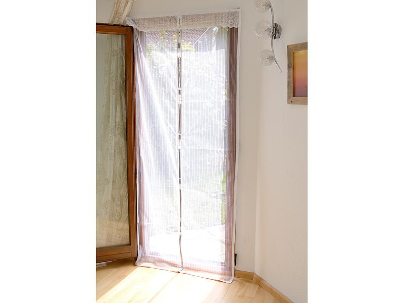 infactory fliegenvorhang selbstschlie endes premium fliegennetz f r t ren wei fliegenschutz. Black Bedroom Furniture Sets. Home Design Ideas
