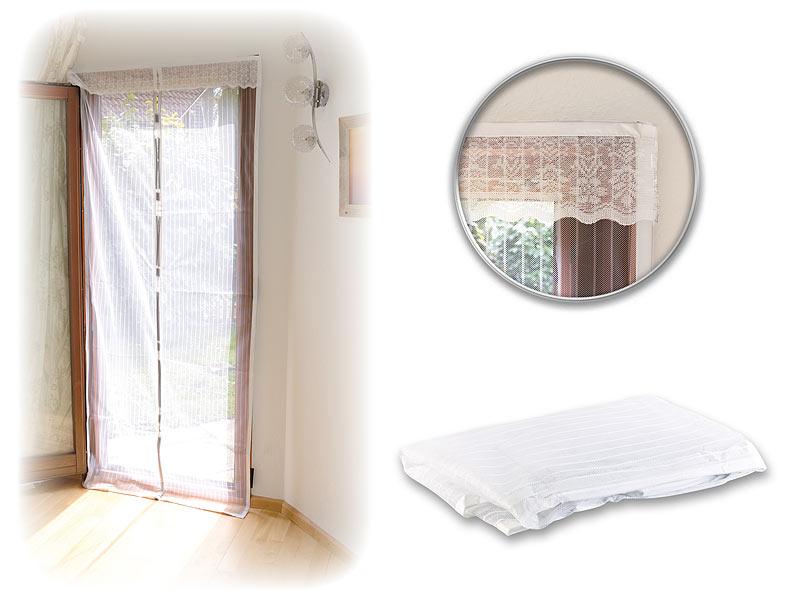 infactory moskitonetz selbstschlie endes premium fliegennetz f r t ren wei m ckenvorhang. Black Bedroom Furniture Sets. Home Design Ideas